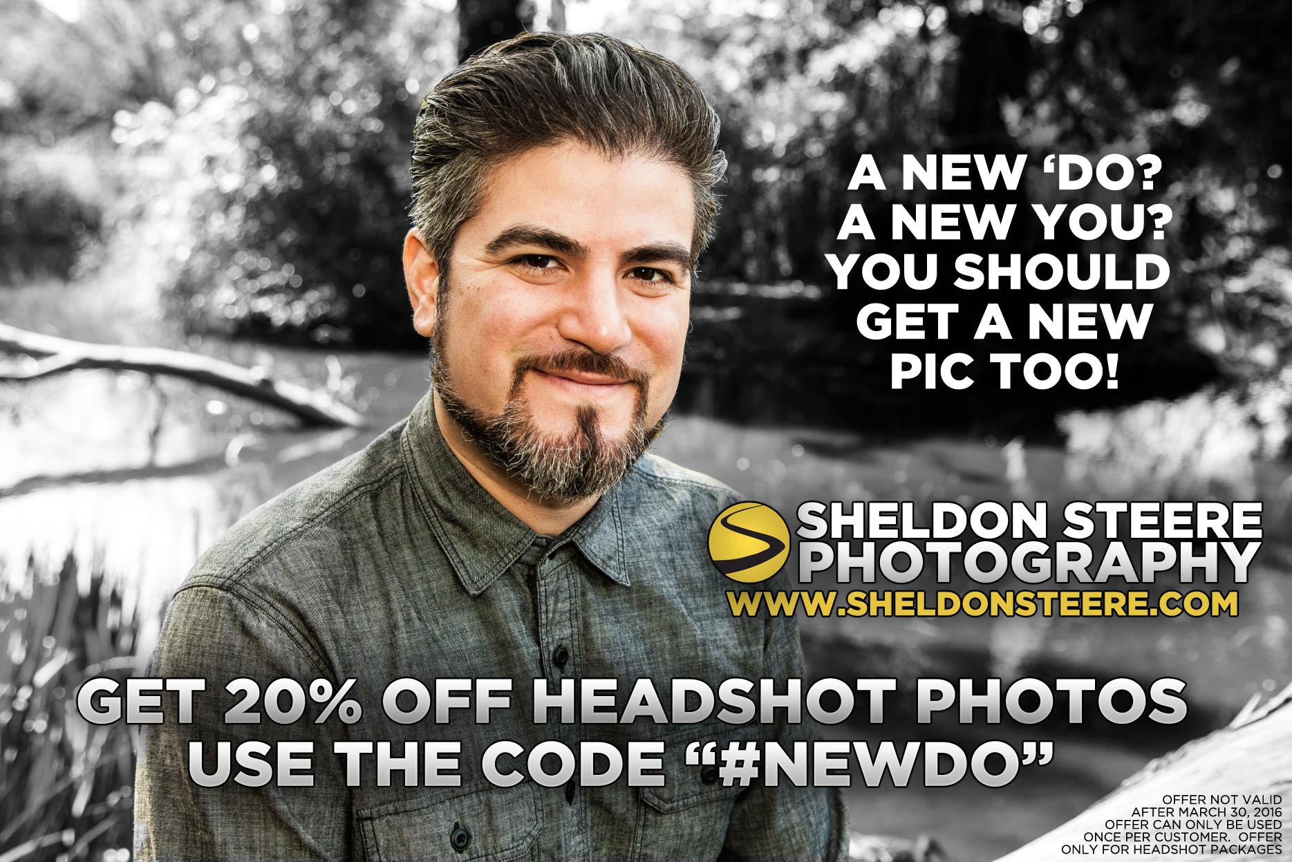 headshot advertisement